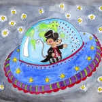 Alfonso colour postcard