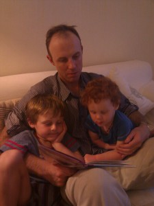 Gavin reading to the boys